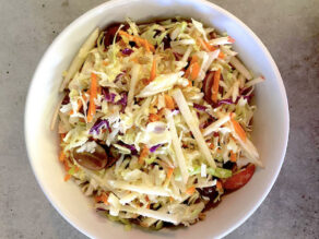Cabbage, Grapes, and Apple Slaw